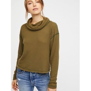XS Free People // Slouchy Thermal Turtleneck Top